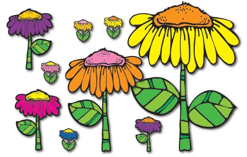 (Carson Dellosa D.J. Inkers Flower Garden Bulletin Board Set)