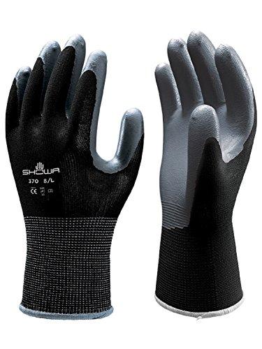 24 Pair - Showa Atlas 370 Black Work Gloves Size Medium 370BM-07 (2 Dozen)
