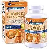 Turmeric Curcumin BCM-95 Supplement + Black Pepper, ORGANIC, 60 Veg. Capsules, 1000 mg - Pure Micronutrients (1 Bottle)