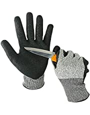 KIM YUAN Cut Resistant Gloves Mechanic General Utility Breathable Work Gloves, Skid/Abrasion Resistant, Pefect for Gardening, Warehouse, Construction, Outdoor, Men & Women, Large