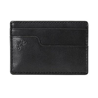 HOJ Co. Eastwood Money Clip Wallet-Front Pocket Wallet-Leather Covered Clip-Slim
