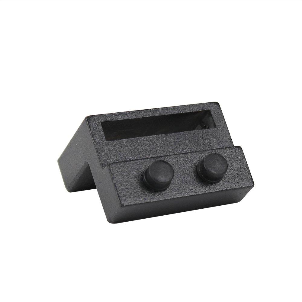 ZEKOO Steel Stopper Limit Device For Sliding Barn Door Hardware Track Roller Stop Kit Accessories