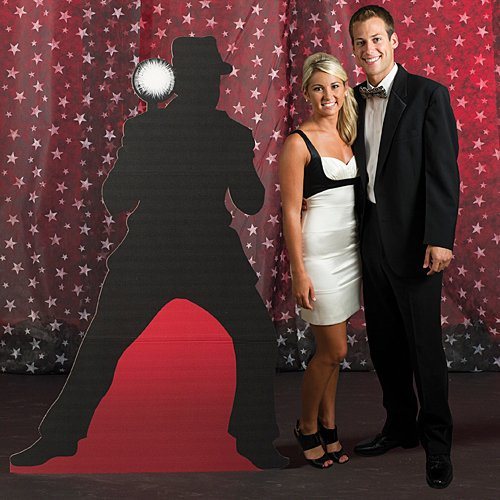 5 ft. 8 in. Vintage Hollywood Movie Star Paparazzi 1 Standup Photo Booth Prop Background Backdrop Party Decoration Decor Scene Setter Cardboard Cutout -