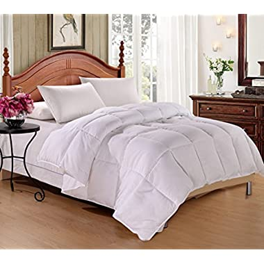 """DelbouTree Down Alternative Comforter, Ultra Warmth Comforter with Corner Tab,King 102x90"""" CLEARANCE"""