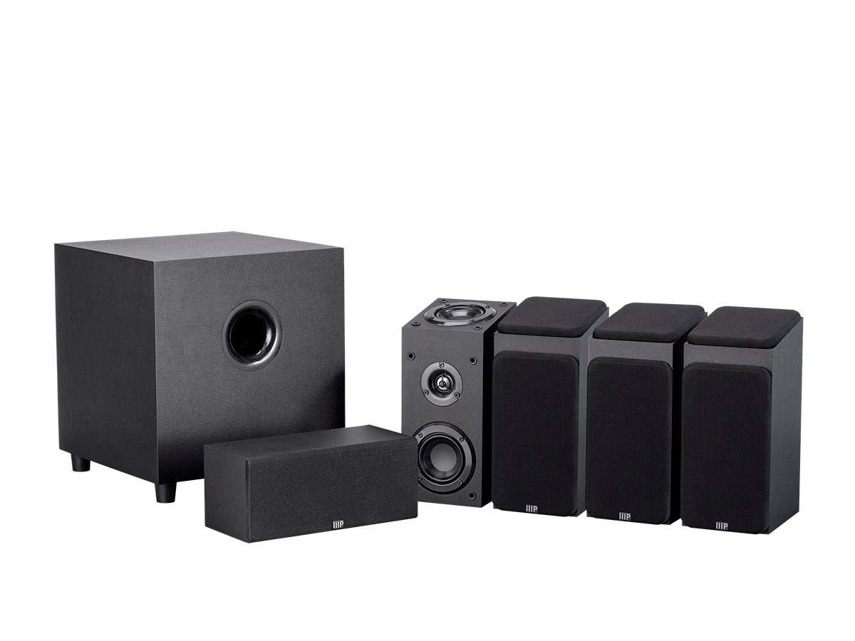 Monoprice 133832 Premium 5.1.4-Ch. Immersive Home Theater System - Black with 8 Inch 200 Watt Subwoofer by Monoprice