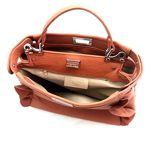 in SUPERFLYBAGS in Italy morbida vera Made Borsa Rouge Donna modello Cognac Volterra pelle FqxFn4Srv