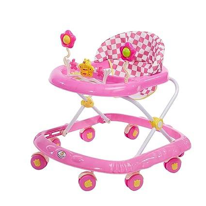 GUO@ Baby Walker plegable Prevención contra vuelcos 6/7-18 meses Carrito infantil