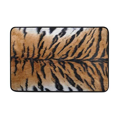 Cvhtr3m Animal Tiger Skin Print Doormat Indoor/Outdoor Decor Rug Doormat 23.6(L) X15.7(W) Inch Non-Slip Home Decor