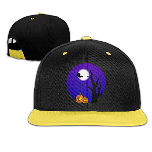 kids-halloween-adjustable-snapback-baseball-hat-yellow
