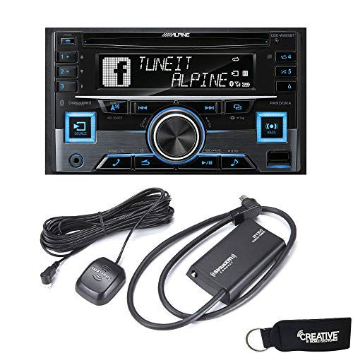 Alpine CDE-W265BT 2-DIN Bluetooth CD Radio Receiver with a S