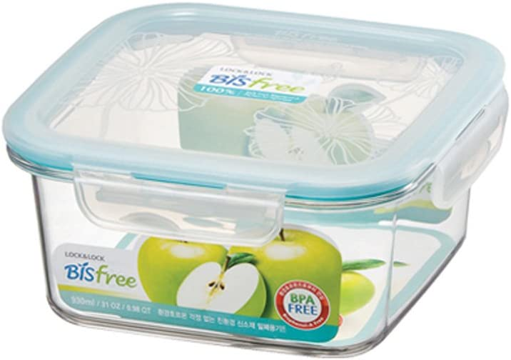 Lock & Lock Bisfree Airtight Square Containers Tabletop Container 930ml / 32oz