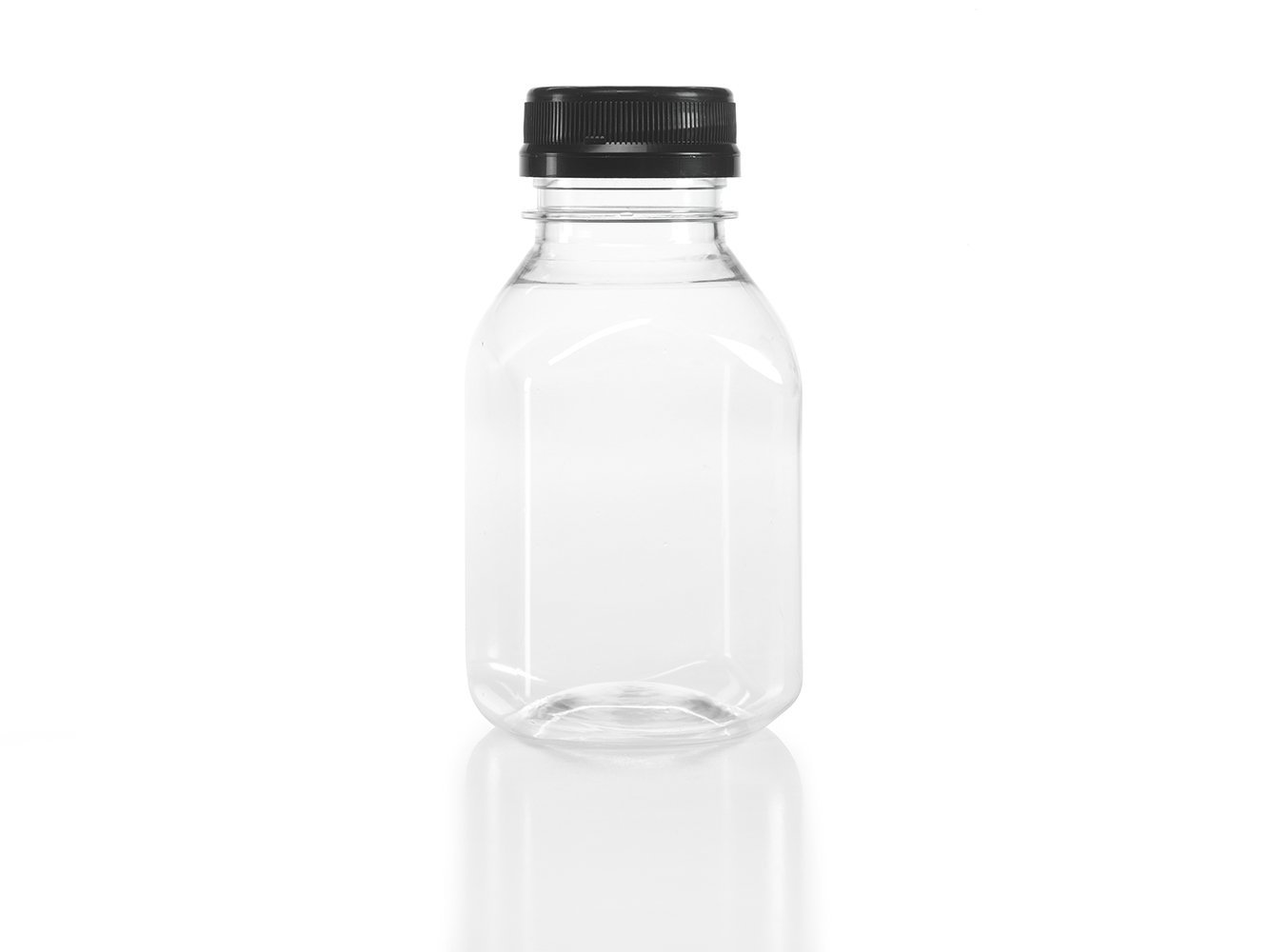 Clear Food Grade Plastic Juice Bottles 8 Oz with Cap 24/pack by Juce Jugz