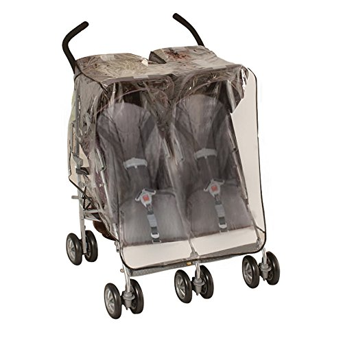 Jeep Side by Side Stroller Weather Shield – White – One Size