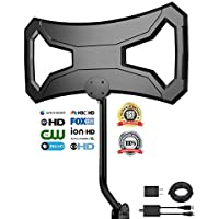 Outdoor antenna, 150 Miles Range Attic Antenna, Rooftop Antenna,Digital TV Antenna with Amplifier,33Ft Detachable Cable With Mount Kit,1080P 4K-Ready Extremely High Reception With UL Certificate