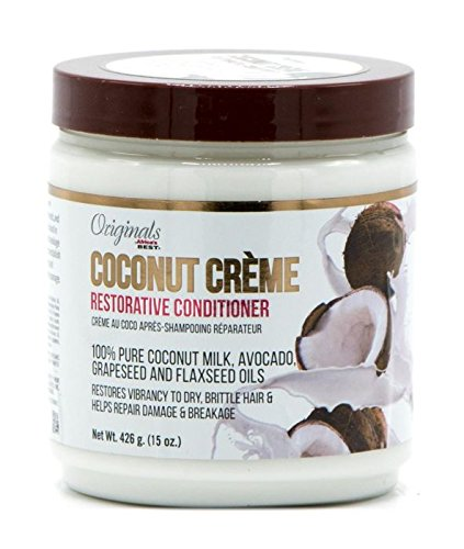 - Africa's Best Originals Coconut Creme Restorative Conditioner 100% Pure Coconut Milk, Avocado, Grapeseed and Flaxseed Oils (15oz)