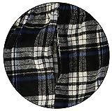 Gioberti Big Boys Yarn Dye Brushed Flannel Lounge & Pajama Pants with Elastic Waist, Black/Blue Stripe, Size 8