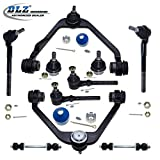 DLZ 10 Pcs Front Suspension Kit-2 Upper Control Arm 2 Lower Ball Joint 4 Tie Rod End 2 Sway Bar for 2WD RWD 1997-2003 Ford F150 1998-1999 Ford F250 1997-2002 Ford Expedition 2004 Ford F-150 Heritage