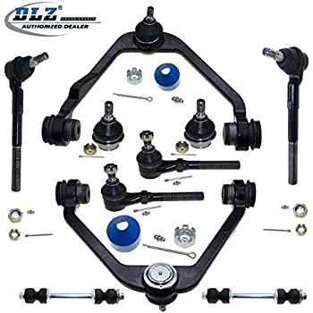 dlz 10 pcs front suspension kit-upper control arm lower ball joint tie rod  end sway bar 2wd rwd compatible with ford f150 1997-2003 f250 1998-1999