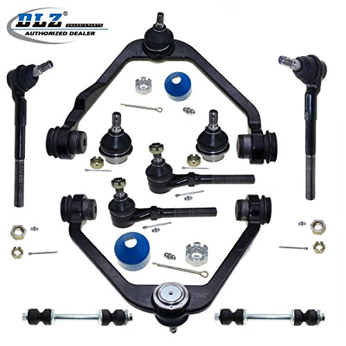 - DLZ 10 Pcs Front Suspension Kit-Upper Control Arm Lower Ball Joint Tie Rod End Sway Bar 2WD RWD Compatible with Ford F150 1997-2003 F250 1998-1999 Expedition 1997-2002 K8695T K8726T ES3366T ES3365T