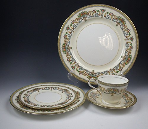 Aynsley China HENLEY (Smooth Gold) 5 Piece Place Setting(s) (Aynsley Henley)