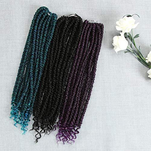 FASHION IDOL 14 Inch Spring Senegalese Twist Crochet Braid Curly End Ombre Color Havana Mambo Crochet Hair Kanekalon Twist Braids Crochet Hair Extensions (T1B/DG1)