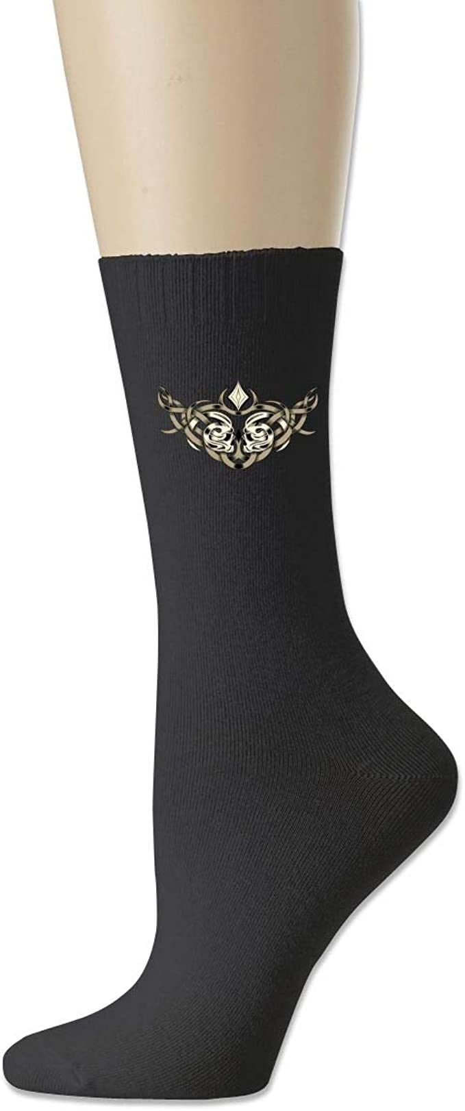 Men High Ankle Cotton Crew Socks Labor Day Design Pattern Casual Sport Stocking