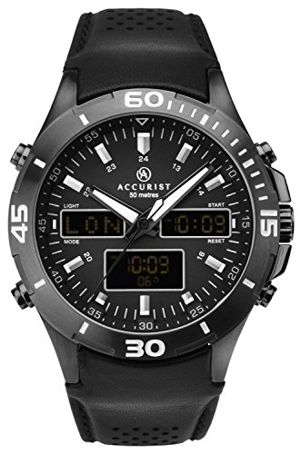 Accurist Gents Analogue And Digital World Time Watch 7192
