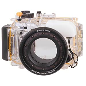 Polaroid Dive Rated Waterproof Underwater Housing Case For The Sony Cybershot DSC-RX100 Digital Camera