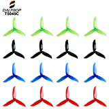 16pcs DALPROP T5045C 5045 5 Inch 3-Blades CW CCW Tri-Blade Propeller, Best Match for 200 210 230 250 FPV Racing Drone Quadcopter Frame Kit (Black Red Blue Green)
