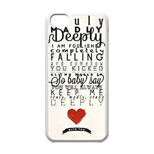 One Direction Classic Personalized Phone Case for Iphone 5C,custom cover case ygtg-332891