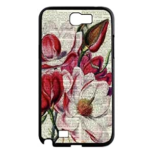 Vintage Flower Watercolor New Fashion DIY Phone Case for Samsung Galaxy Note 2 N7100,customized cover case ygtg586334
