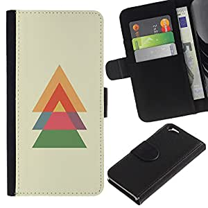 UberTech / Apple Iphone 6 4.7 / Tree Spruce Christmas Polygon Minimalist / Cuero PU Delgado caso Billetera cubierta Shell Armor Funda Case Cover Wallet Credit Card