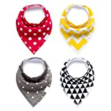 Baby Bandana Drool and Dribble Bibs for Boys and for Girls - (Set of 4, Gift Set) - Best for Babies Drooling, Teething and Feeding (design 11)