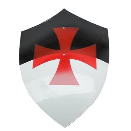 9646d4d3c2ce Amazon.com   Swordsaxe Knights Templar Bezant Shield Real Steel Byzantium  Iron Crusaders Cross   Sports   Outdoors