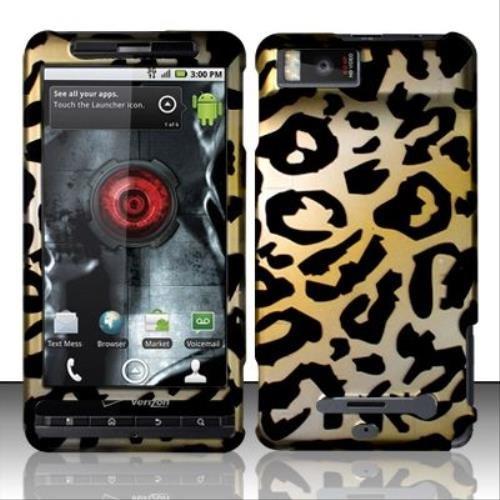 Rubberized Cheetah Design for MOTOROLA Motorola Droid X MB810