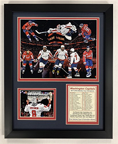 Legends Never Die NHL Washington Capitals 2018 Stanley Cup Framed Double Matted Photos, Collage, 12