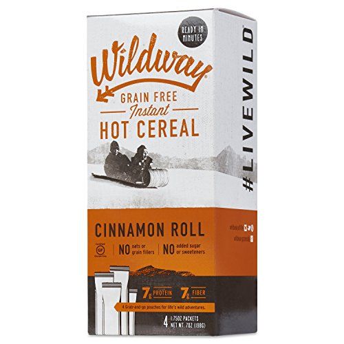 Wildway Grain-free Hot Cereal Twin Pack (Cinnamon Roll) (Certified gluten-free, Paleo, Vegan, ()