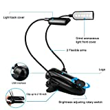 Anpress Book Light, Clip-on Music Stand Lights, Bed Reading Lamps 18650 Rechargeable Battery Night Light for Piano Desk Musicians Reader Kids ( 12 LED Light)