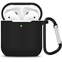 DGBAY for Apple AirPods 1/2nd Silicone Waterproof Case Shock Proof Protecitive Cover with Keychain,Resistant Cover Case…