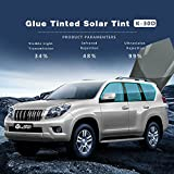 HOHO VLT 34% Glue Tinted Natural Color Solar Tint Car Glass Side Window Film Sun Block(100cmx3000cm)