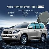 HOHO VLT 34% Glue Tinted Natural Color Solar Tint Car Glass Side Window Film Sun Block(50cmx3000cm)