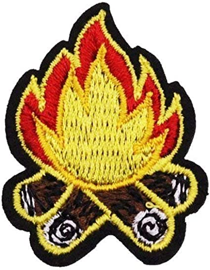 U-Sky Sew or Iron on Patches 2.32x2.99inch 3pcs Different Size Pack Camping Fire Patch for Clothing 1.5x1.6inch 1.61x2.24inch
