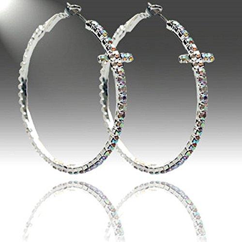 Accessory Accomplice Silvertone Borealis Earrings