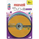 MAXELL 639031 4.7GB DVD+Rs (5 pk; Color Carded)