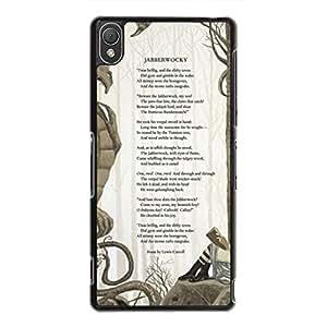 Charming Alice Alice In Wonderland Quotes Sony Xperia Z3 Case,Alice In Wonderland Quotes Phone Case For Sony Xperia Z3,Black Hard Plastic Case Cover