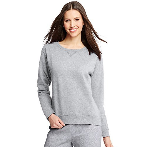 Hanes ComfortSoft EcoSmart Women's Crewneck Sweatshirt_Light - Steel Crewneck