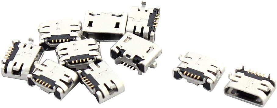 Tipo B Mini 5pin Usb Hembra Jack Conector Hembra Smt para teléfonos celulares 10 un