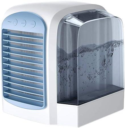 Enfriador de aire,Climatizador Portátil,Ventilador refrigerado por agua,Adecuado para habitación de oficina, viajes al aire libre, etc.: Amazon.es: Hogar