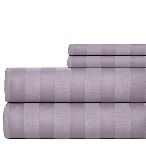 weavely bedsheet 100 cotton 600 thread count damask stripe queen sheet set 4 piece hotel. Black Bedroom Furniture Sets. Home Design Ideas