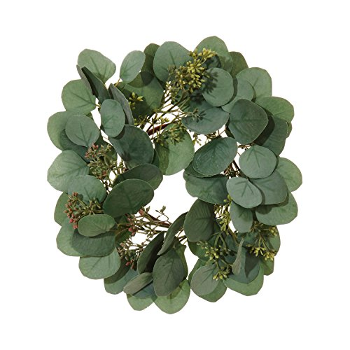 (12 Inch Eucalyptus Candle Ring Wreath)